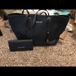 Michael Kors Tote and matching Checkbook wallet